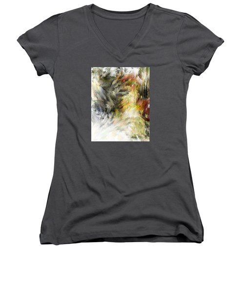 Birth Of Feathers Women's V-Neck T-Shirt (Junior Cut) by Dale Stillman
