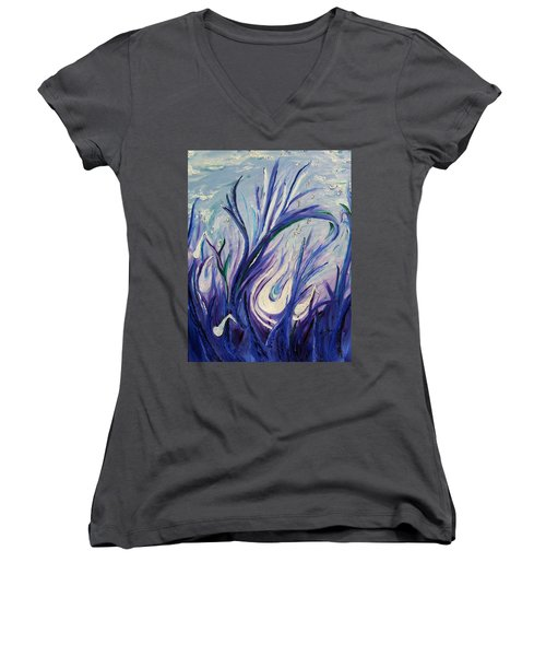 Birth Of Music Women's V-Neck T-Shirt