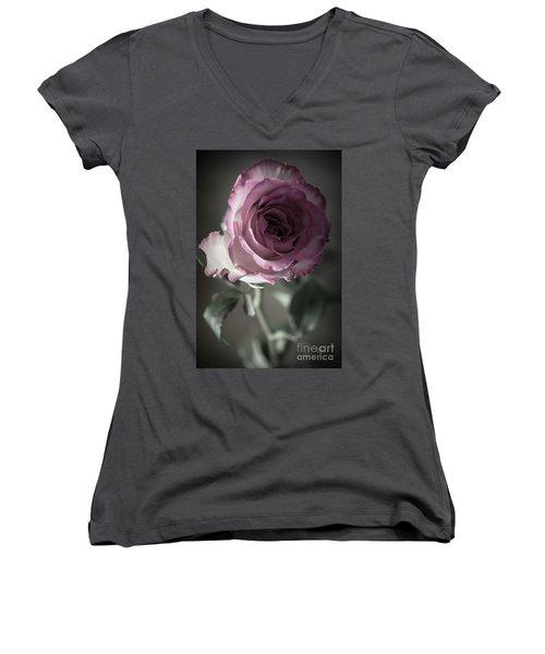 Birthday Rose Women's V-Neck T-Shirt