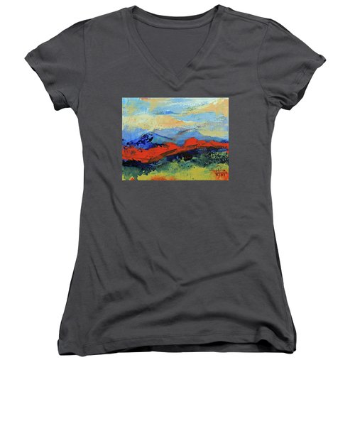 Bishop Mountains - Fall 2016 Women's V-Neck (Athletic Fit)