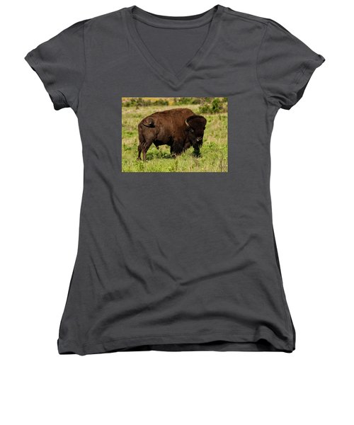 Bison  Women's V-Neck (Athletic Fit)