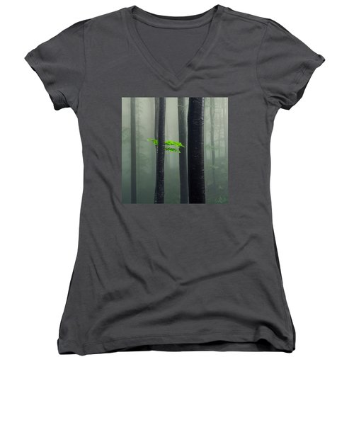 Bit Of Green Women's V-Neck