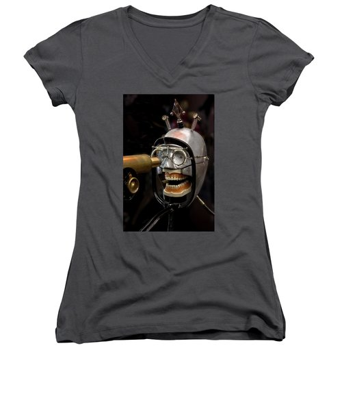 Bite The Bullet - Steampunk Women's V-Neck (Athletic Fit)