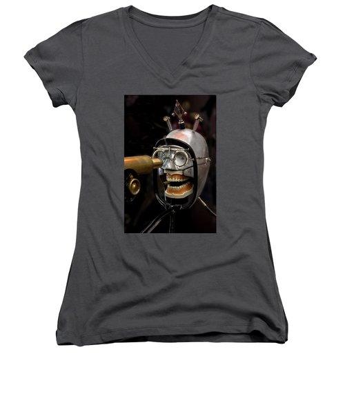 Bite The Bullet - Steampunk Women's V-Neck T-Shirt
