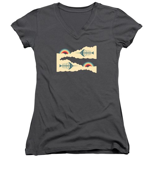 Bittersweet - Pattern Women's V-Neck T-Shirt (Junior Cut)