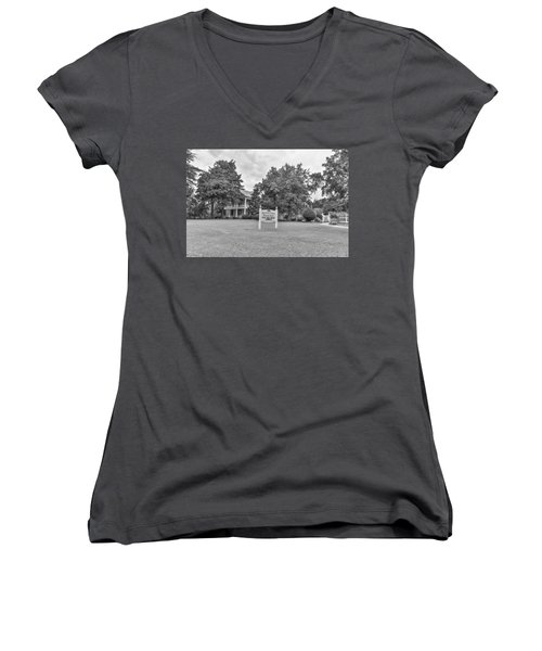 Black And White 58 Women's V-Neck (Athletic Fit)