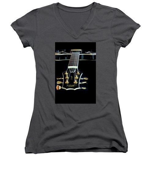 Women's V-Neck T-Shirt (Junior Cut) featuring the photograph Black Beauty by Bill Gallagher