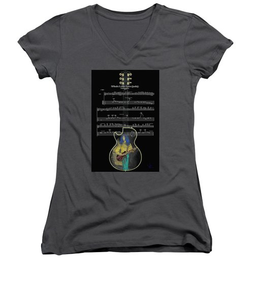 Black Beauty Women's V-Neck T-Shirt (Junior Cut)