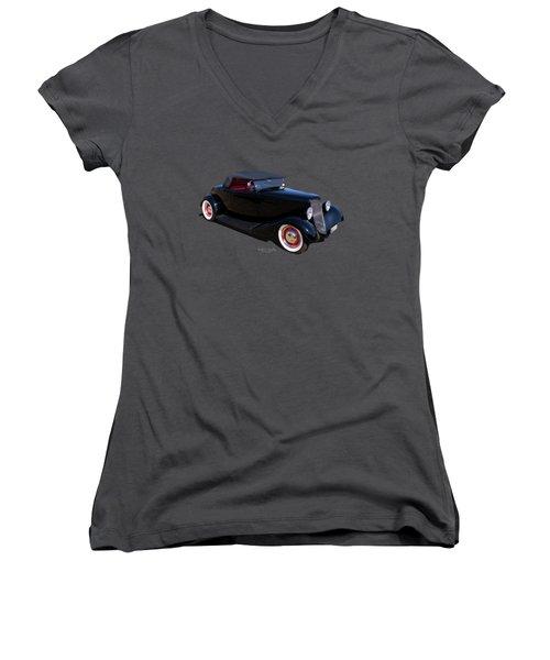 Black In Back Women's V-Neck T-Shirt