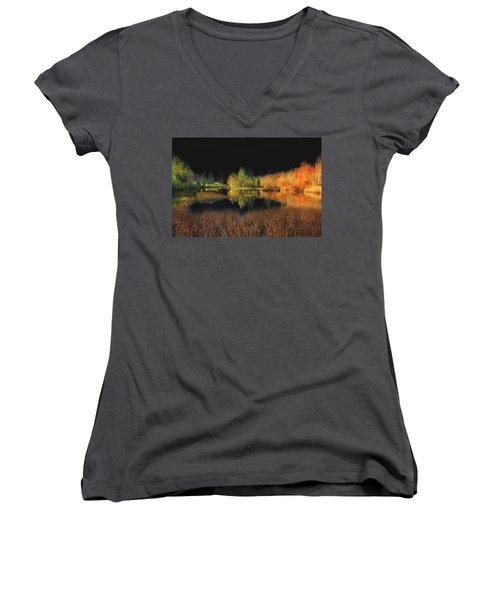 Black Sky Women's V-Neck T-Shirt