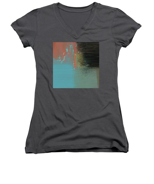 Black Splash Women's V-Neck