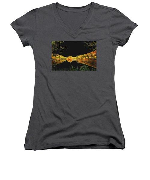 Black Tears Women's V-Neck T-Shirt