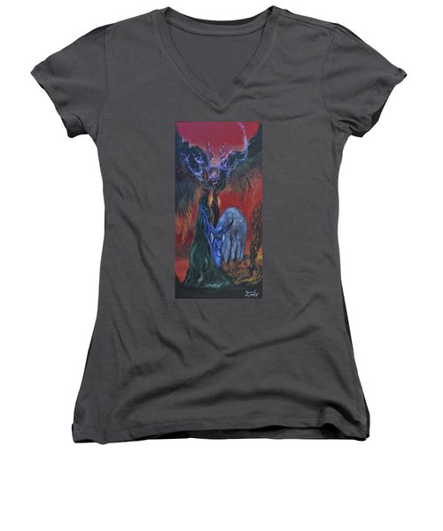 Blackberry Thorn Psychosis Women's V-Neck T-Shirt