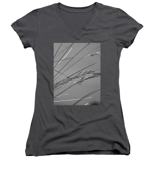 Blades Of Gray Women's V-Neck (Athletic Fit)