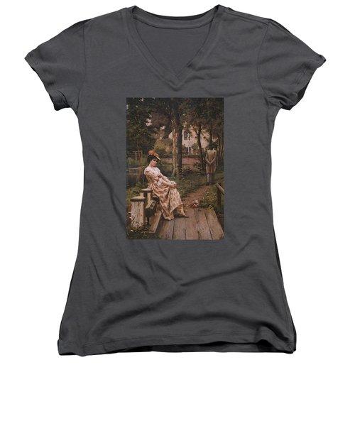 Blair Leighton Off Women's V-Neck T-Shirt