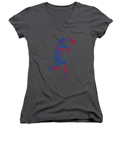 Blake Griffin Clippers Pixel Art T Shirt Women's V-Neck (Athletic Fit)