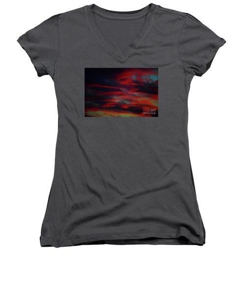 Bleed Women's V-Neck T-Shirt
