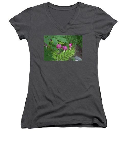 Bleeding Hearts 2 Women's V-Neck T-Shirt