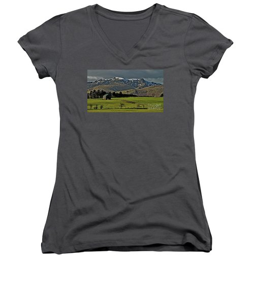 Blencathra Mountain, Lake District Women's V-Neck