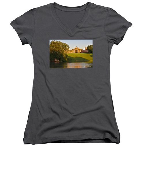 Blenheim Palace And Lake Women's V-Neck