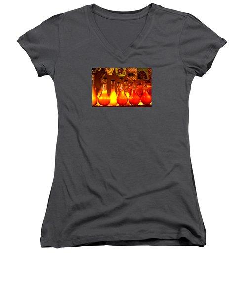 Bless The Bees Women's V-Neck T-Shirt (Junior Cut) by Susanne Still