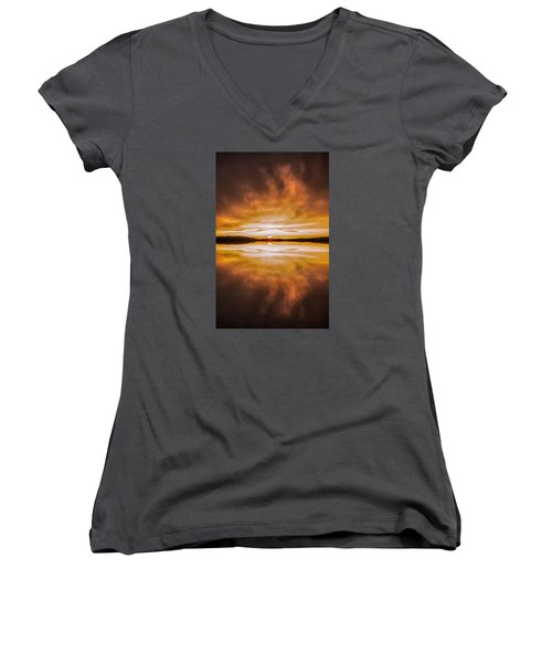 blessed Sight Women's V-Neck T-Shirt (Junior Cut) by Rose-Maries Pictures