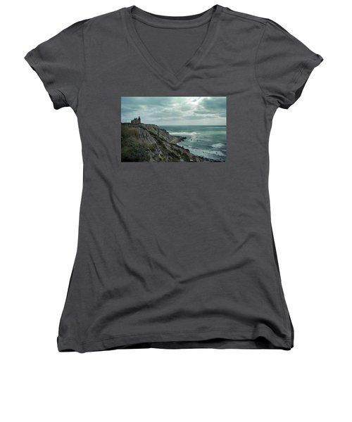 Block Island South East Lighthouse Women's V-Neck T-Shirt