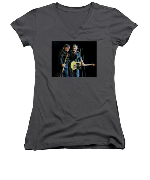 Blood Brothers Women's V-Neck T-Shirt (Junior Cut) by Jeff Ross