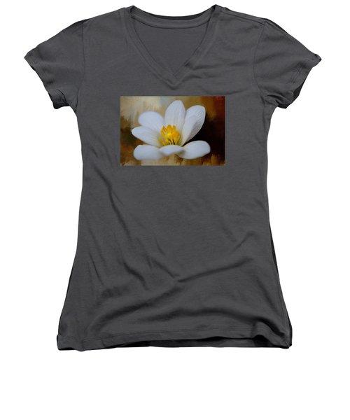 Bloodroot Women's V-Neck T-Shirt