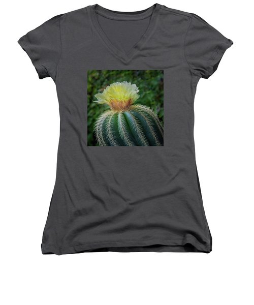 Blooming Cactus Women's V-Neck