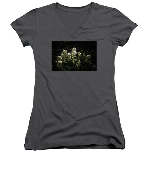 Women's V-Neck T-Shirt (Junior Cut) featuring the photograph Blooming In The Shadows by Marco Oliveira