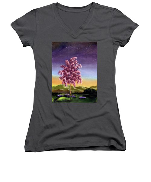 Blossoming Women's V-Neck T-Shirt