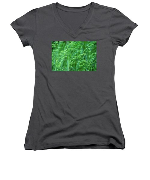 Blowing Green Women's V-Neck