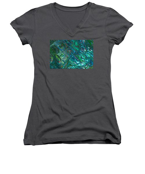 Blue Abalone Abstract Women's V-Neck