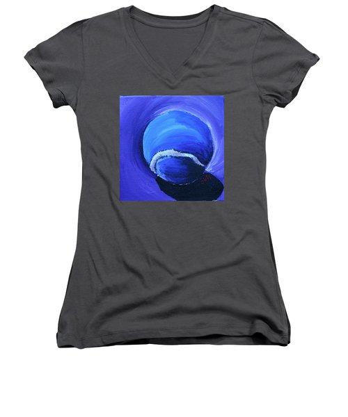 Blue Ball Women's V-Neck T-Shirt