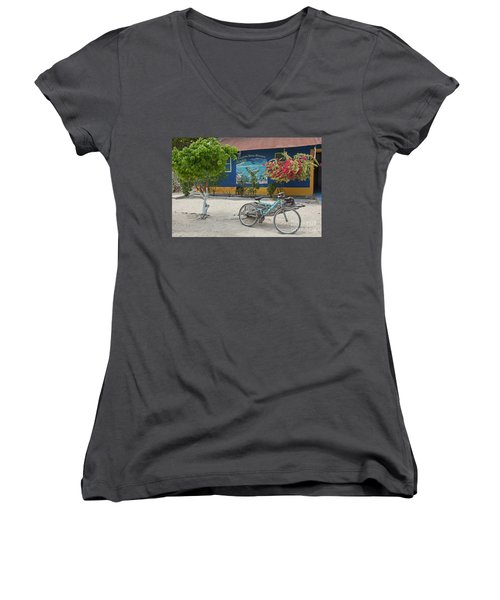 Blue Bicycle Women's V-Neck T-Shirt