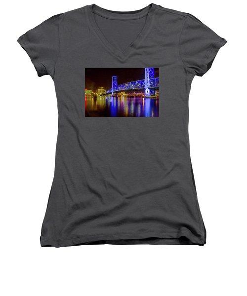 Blue Bridge 2 Women's V-Neck T-Shirt