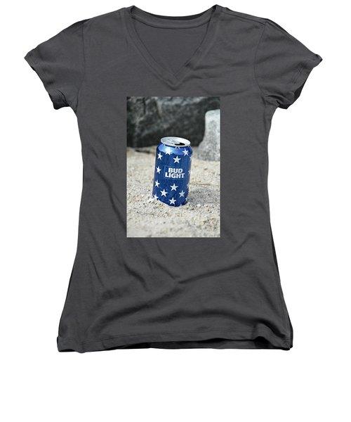 Blue Bud Light Women's V-Neck