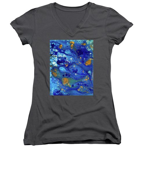 Blue Dream Women's V-Neck T-Shirt (Junior Cut) by Sean Brushingham