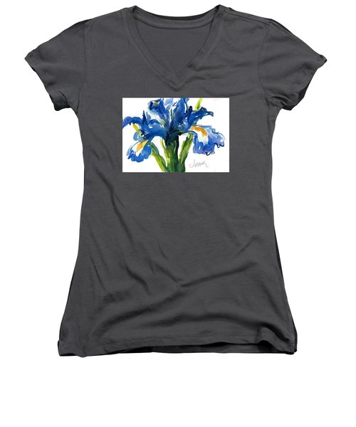 Blue Dutch Iris For Kappa Kappa Gamma Women's V-Neck