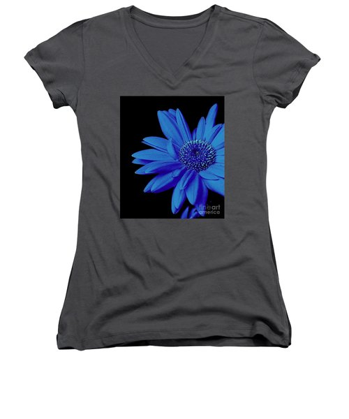 Blue Women's V-Neck T-Shirt