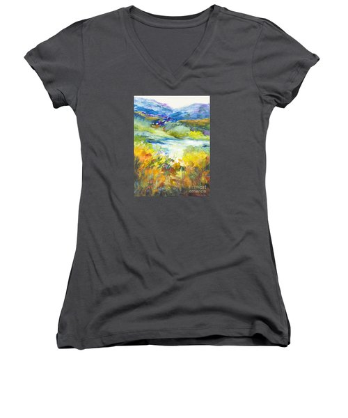Blue Hills Women's V-Neck T-Shirt