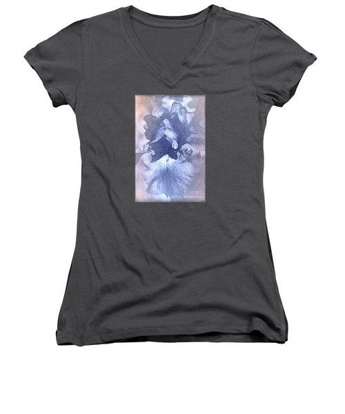 Blue Iris Abstract Women's V-Neck T-Shirt