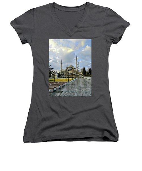 Blue Mosque Women's V-Neck T-Shirt