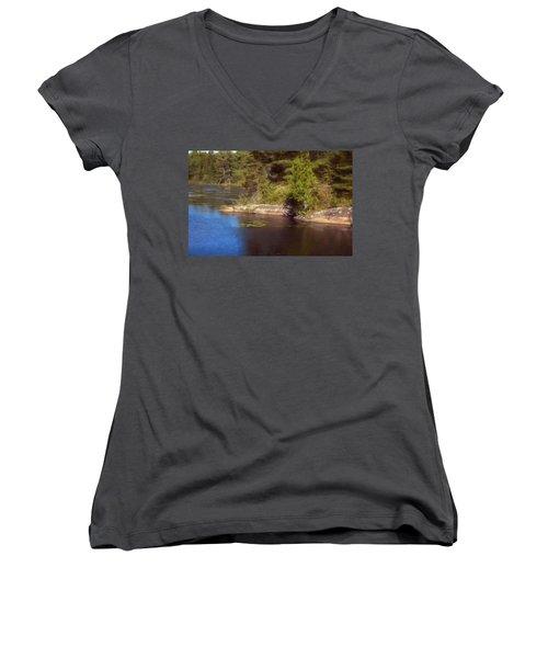 Blue Pond Marsh Women's V-Neck T-Shirt