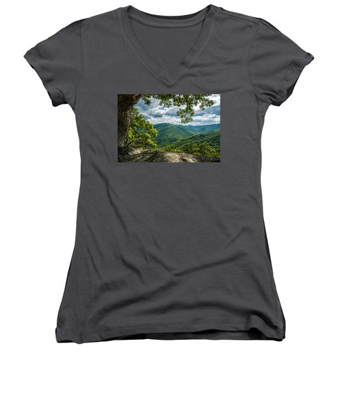 Blue Ridge Mountain View Women's V-Neck (Athletic Fit)