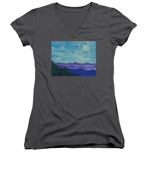 Blue Ridges Mist 1 Women's V-Neck