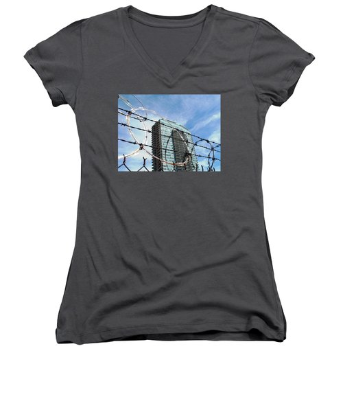 Blue Sky And Barbed Wire Women's V-Neck