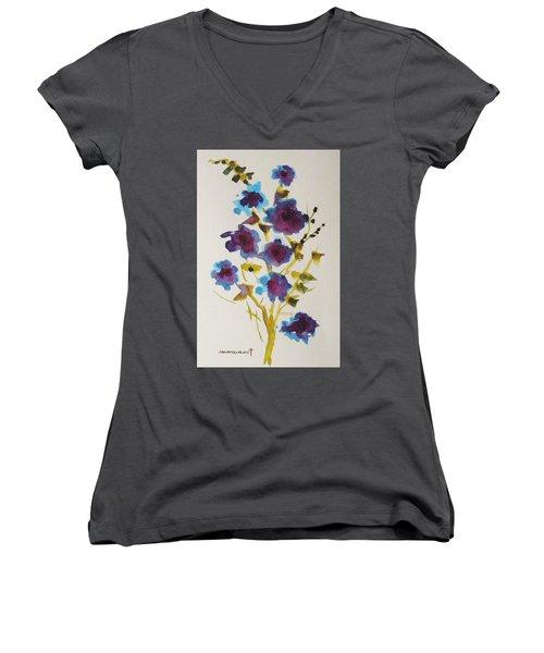 Blue Spring Women's V-Neck T-Shirt