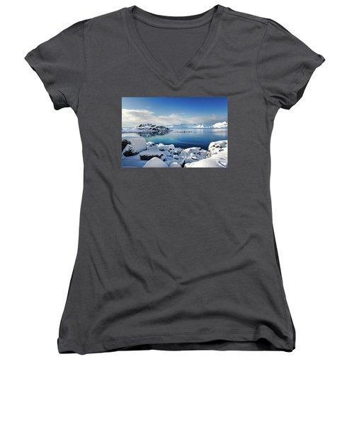 Blue Sunday Women's V-Neck T-Shirt
